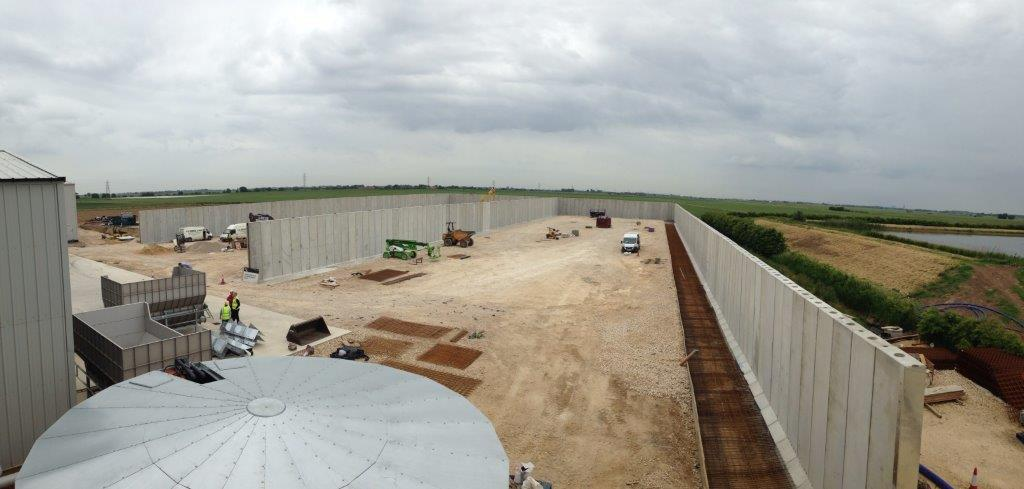 Concrete Retaining Wall - Anaerobic digestion plant