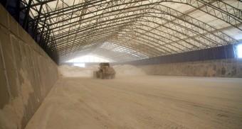Grain store walling