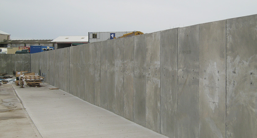 Concrete security wall Security Wall  Construction Poundfield
