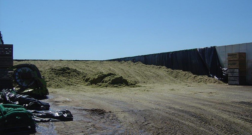 Precast Concrete Retaining Wall - Silage clamp