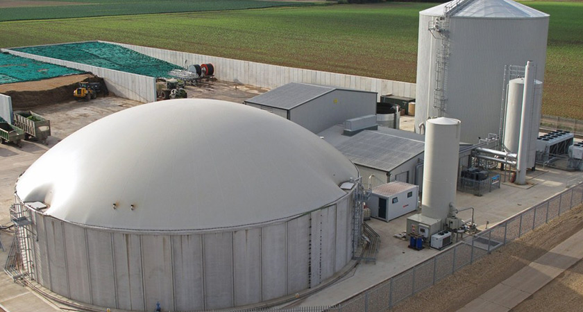 Anaerobic digestion waste plant