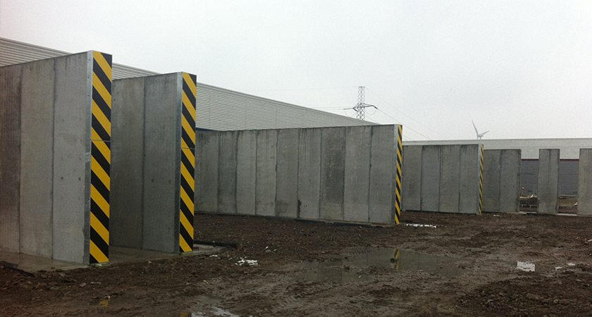 concrete dividing walls