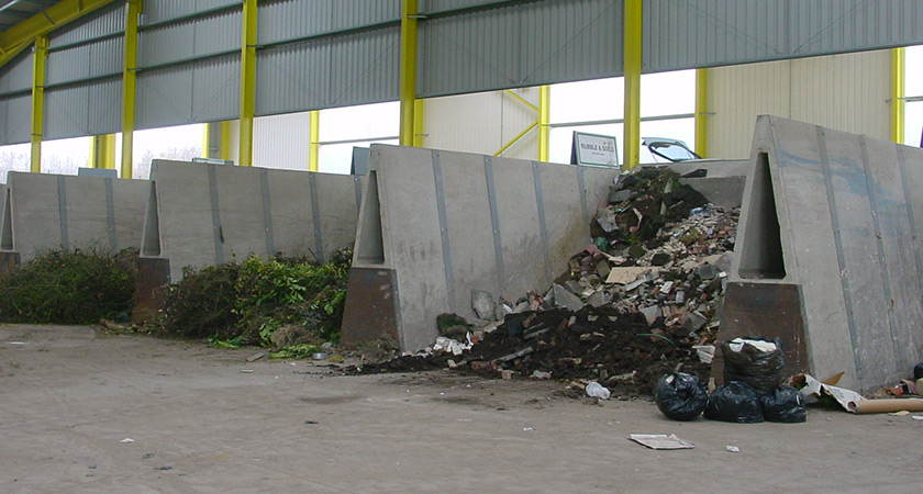Precast Concrete Retaining Wall - Waste Recycling