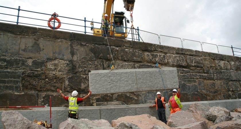 Poundfield Wins Major Order For Sea Defence Walling