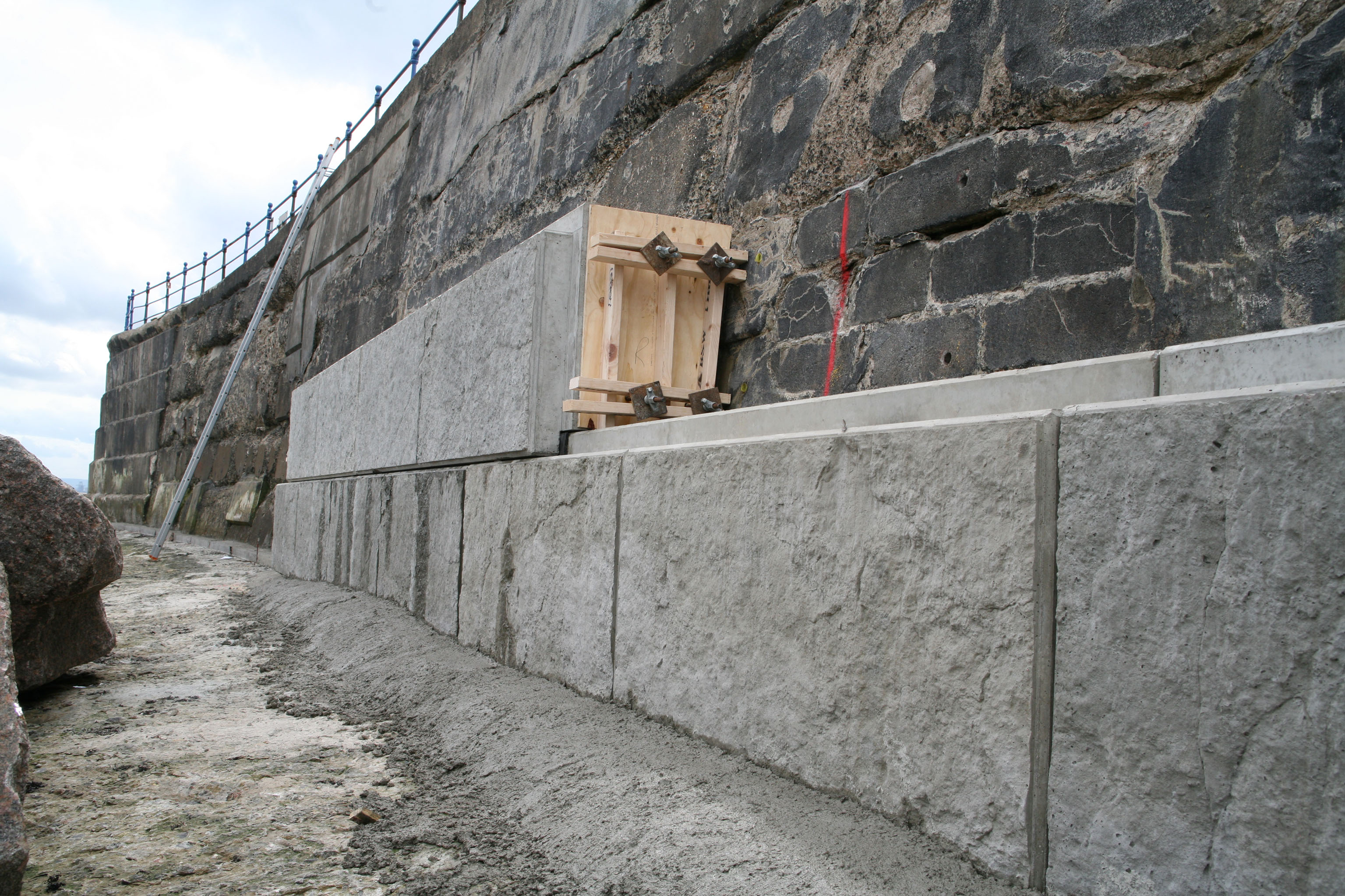 Marine And Coastal Defence Wall