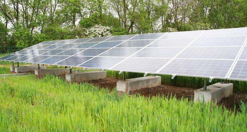solar panel concrete