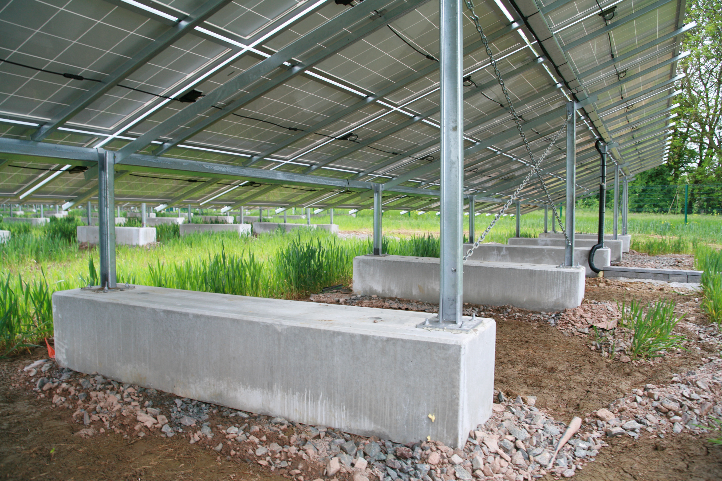 Bespoke Concrete Bases Used To Support Solar Panels
