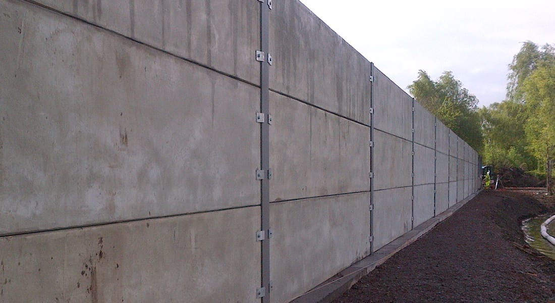 Retaining Wall - Prestressed Concrete Panels - Poundfield