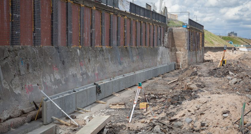 Bespoke Concrete Sea Defence Wall Panels