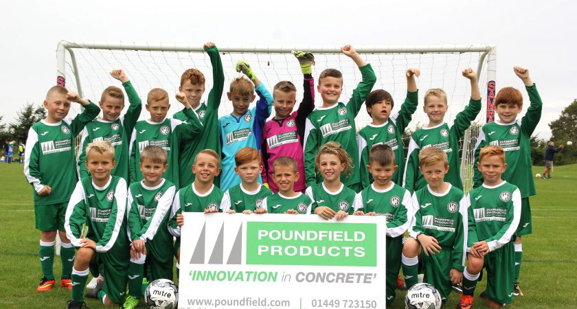 Barham Athletic U-10s With their new kit sponsored by Poundfield Products