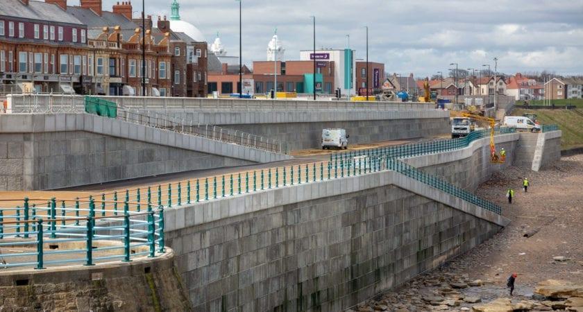 Whitley Bay – Bespoke Sea Defence Wall - 2000 Bespoke Concrete Sea Defence Wall Panels