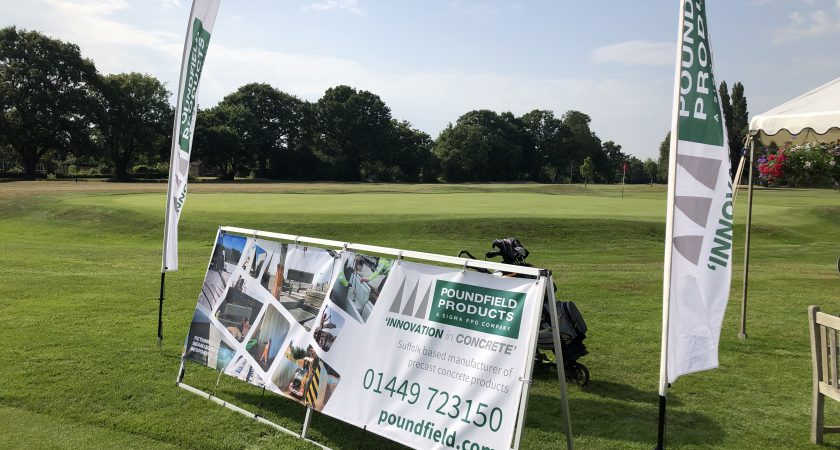Poundfield Precast banners and flags at Colchester Golf Course
