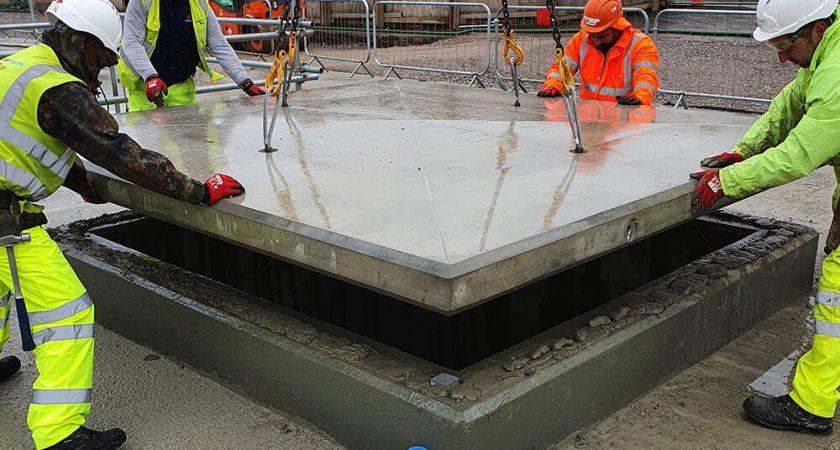 Bespoke precast concrete cover slabs
